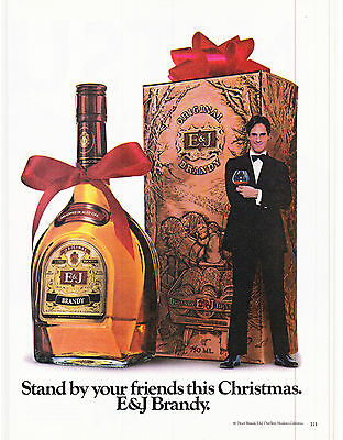 Original Print Ad-1980 E&J BRANDY-Stand By Your Friends This Christmas. Gift Box