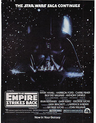 Original Print Ad-1980 MOVIE: THE EMPIRE STRIKES BACK-Star Wars Saga Continues…