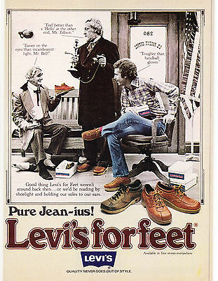 Original Print Ad-1978 Levi's For Feet-Pure Jean-ius! LEVI SHOE-Bell & Edison