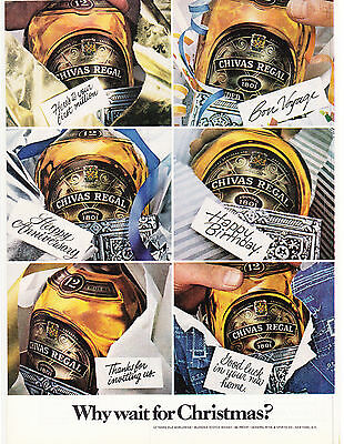 Original Print Ad-1978 CHIVAS REGAL-Why Wait For Christmas? 6 Bottles/Occasions