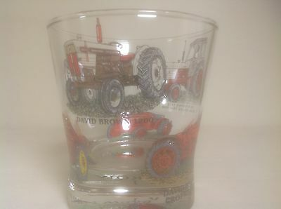 David Brown Tractor Tumbler Glass With 6 Different Tractors