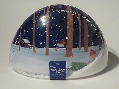 Marks and Spencer novelty biscuit tin - snow globe tin