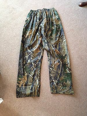 Realtree Waterproof Trousers Camo Fishing Shooting Hunting Carp Stormproof Small