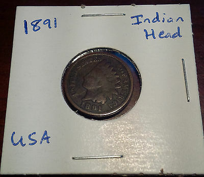 1891 American Indian Head Cent