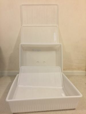 2 Underbed Storage Boxes, Ikea DILLING, 77*70*19.5cm,Collection ONLY, From WD17