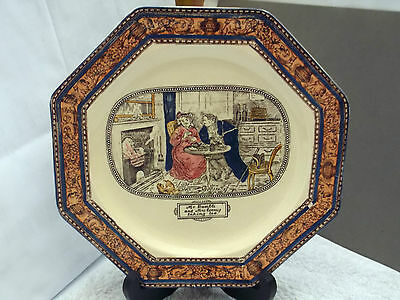 Adams Eight Sided Decorative Plate Dickens Series Mr Bumble  & Mrs Corney