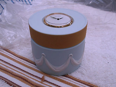 Wedgwood Rosery Clock Box  White Drapes To Side  Gold Coloured Band A / F