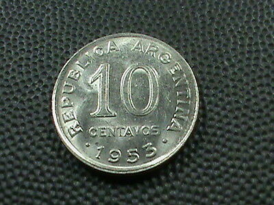 ARGENTINA    10  Centavos    1953    BRILLIANT  UNCIRCULATED