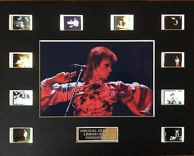 Ziggy Stardust David Bowie 35mm Film Cell Display