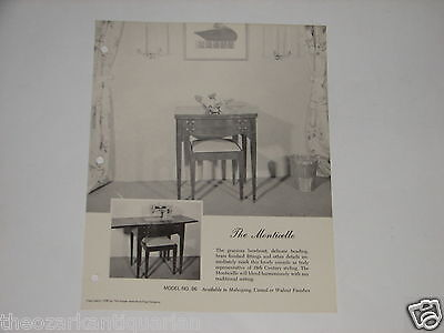 Singer Sewing Machine advertising brochure The Monticello Model #86 FREE SH