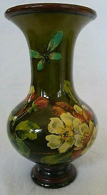 English Pottery Arts Crafts Doulton Lambeth Faience Vase Floral Mary M Arding