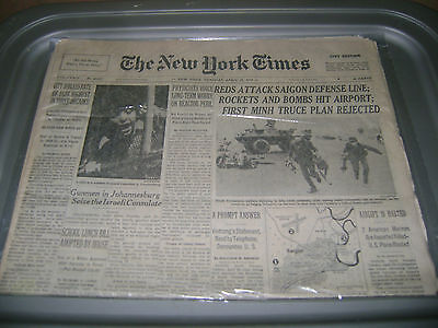 April 29,1975 New York Times newspaper The Fall of South Vietnam