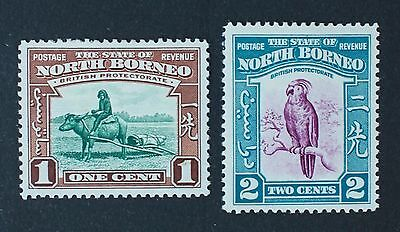 NORTH BORNEO SG303-304 1cent-2cents 1939. Mounted Mint MM.
