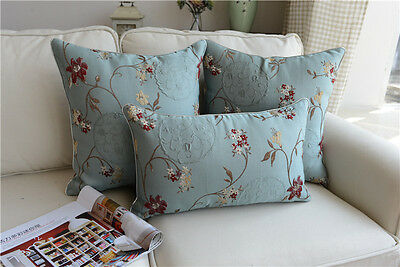 SHABBY CHIC FRENCH Country Cottage Floral Blue Sofa Throw ...