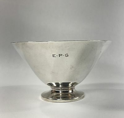 Tiffany & Co Sterling Silver Mid Century Modern Footed Bowl