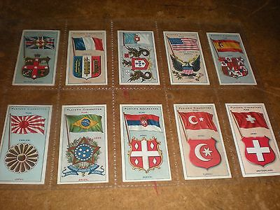 1905 players  country arms & flags (thick card)  cigarette cards set of 50