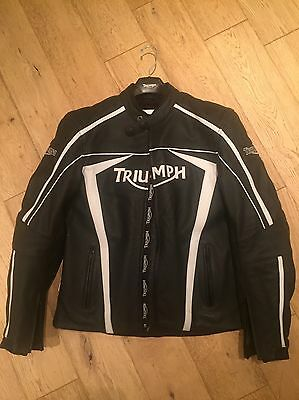Genuine Triumph Viper Leather Motorcycle Jacket - Size UK 42 - Perfect!
