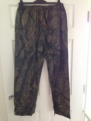 Realtree Waterproof Trousers Camo Fishing Shooting Hunting Carp Stormproof XL