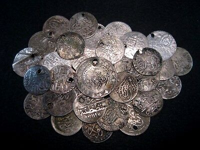 NICE VARIETY ANTIQUE ISLAMIC SILVER COINS, 30 pcs. in LOT!!!