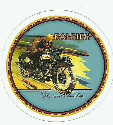 RALEIGH  MOTORCYCLE Sticker Decal