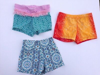 Set Of 3 Girl Dance Outfit Shorts Size Small Lexi Luu, Dance Kids