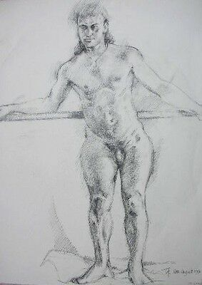 9 Original Male And Female Nude Studies And Portraits By Trevor Hodgkinson