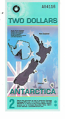 Antarctica Two Dollar Polymer Note 2014