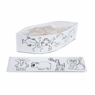 Kids Coloring Chef Hat - Royal Disposable Kids Coloring-Activity Birthday...