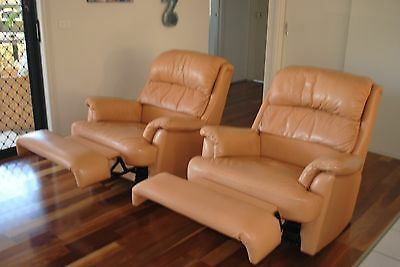 2 Leather Recliners - Rye 3941