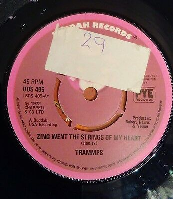 Trammps - Zing Went The Strings Of My Heart - Buddah 7""
