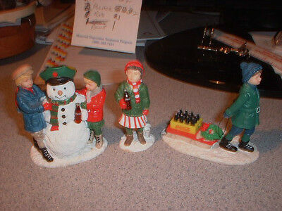 3 Coca-Cola Town Square Collection Figures 1992