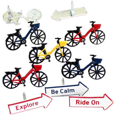 NEW Eyelet Outlet Shape Brads 12 pack Bicycle
