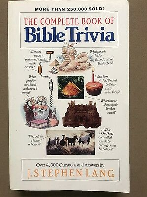 The Complete Book Of Bible Trivia - J Stephen Lang