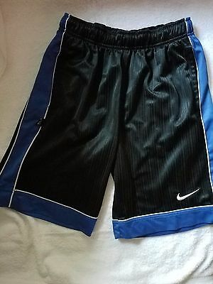 NIKE Boys Youth Shorts Size Medium Athletic Black Blue