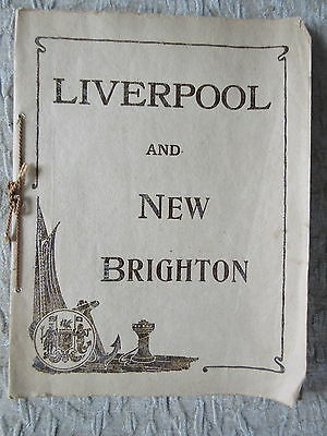 Antique Photo Booklet Liverpool and New Brighton Valentine & Sons