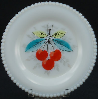 Westmoreland Beaded Edge Fruit 22 Bread and Butter Plate CHERRY