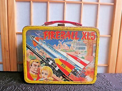 Vintage 1964 metal Fireball XL5 thermos lunch box