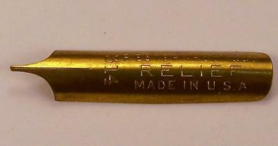 Vintage NOS Esterbrook Relief No 314 Gold Color Pen Nib Never Used, Lot of 4