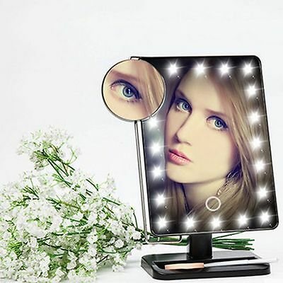 Touch 10x Magnifying 20 LED Light Makeup Mirror Portable Cosmetic Vanity Table V