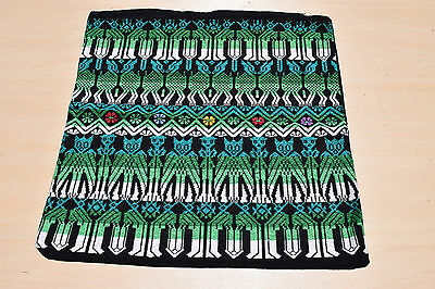 Handmade/handwoven from Guatemala - pillow cover in green tones (2 of 2)