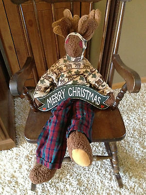 Merry Christmas ~ Country Moose ~Shelf Sitter Figure