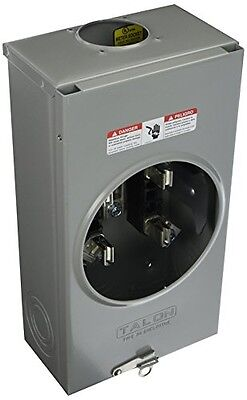 Siemens SUAT317-0GF Meter Socket with 4 Jaw, Ringless Cover and Overhead Feed,
