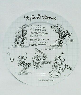 Disney's SKETCH BOOK Minnie Mouse Dinner Plate - 2008