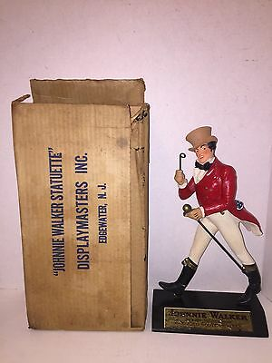 Vintage 1950s Johnnie Walker Advertising Statuette Statue Figure Figurine & Box