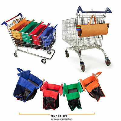 4pcs Shopping Bags 4 Colors Trolley a set of Bags Eco Grocery Cart Reusable 2017