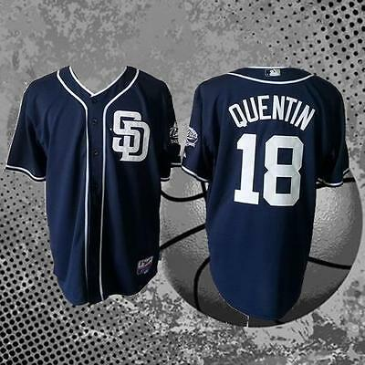 Carlos Quentin San Diego Padres 18# Baseball Jersey Men's Jersey Navy