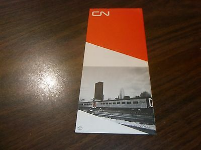 Canadian National 1969 Tempo In Tune With The Times Brochure