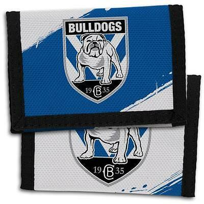 98702 Canterbury Bulldogs Nrl Team Logo Kids Nylon Wallet Gift Idea