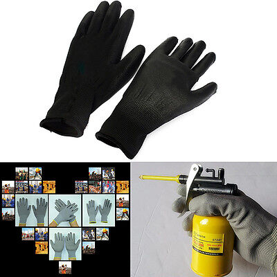 1 Pair PU Palm Coating Protective Safety Anti Static Work Gloves Builders New