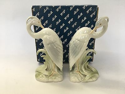 Pair of Fitz and Floyd Heron Porcelain Ceramic Bookends
